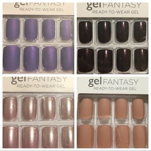 Lot of 4 Kiss Gel Fantasy Nails Short